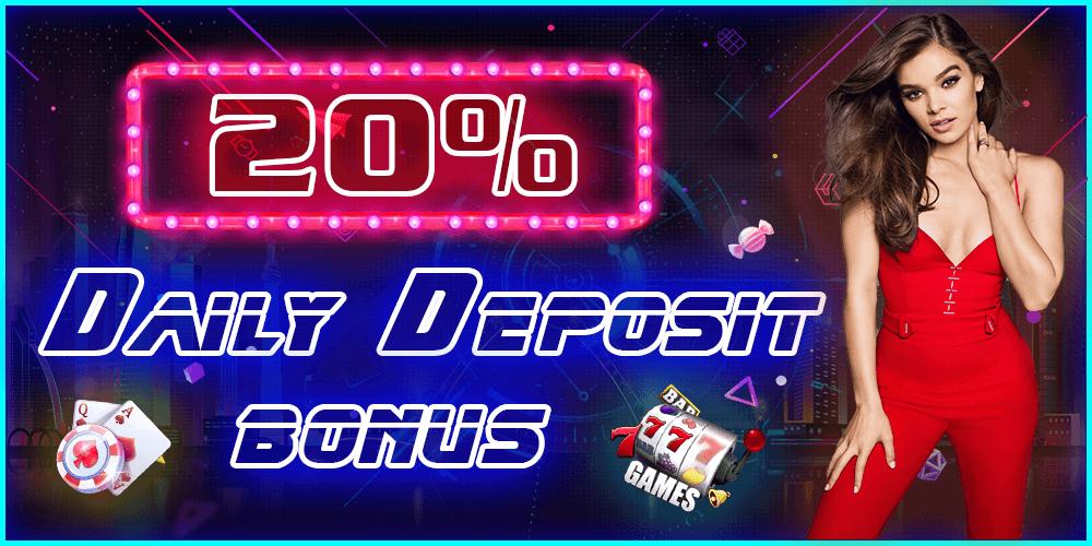 20% daily bonus